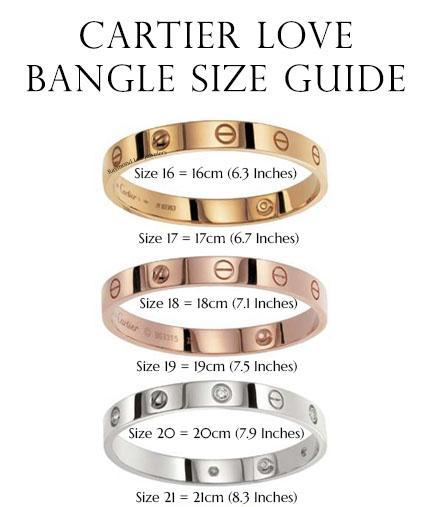 Cartier Love Bangle Size Guide