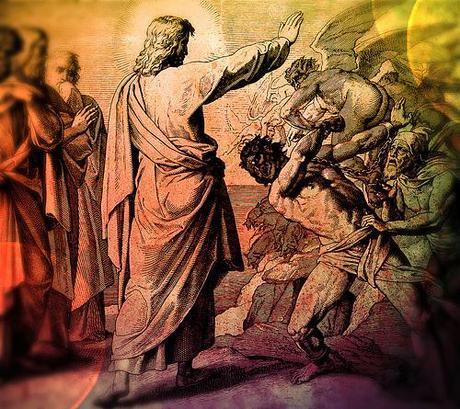 Jesus casts out demon