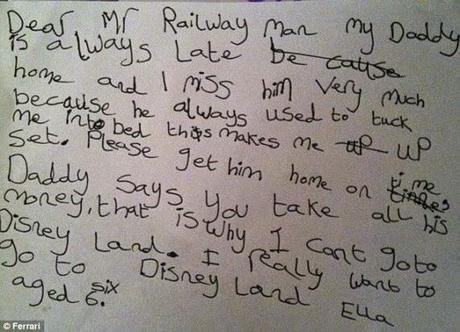 Letter to Railways from Okhil Babu .. to 6 year old in UK