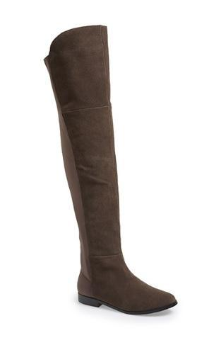 Chinese Laundry - 'Riley' Stretch Back Suede Over The Knee Boot (Women) Womens Smoke