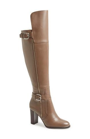Donald J Pliner - 'Quinto' Over the Knee Boot (Women) Womens Taupe Burnished Calf