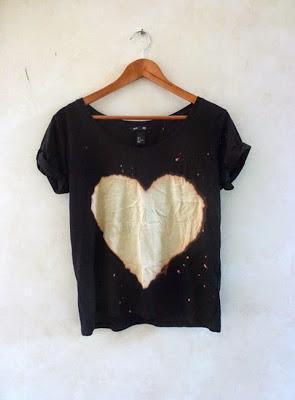 Bleached Heart Shirt