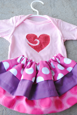 Glittered Shirt and Layers Skirt