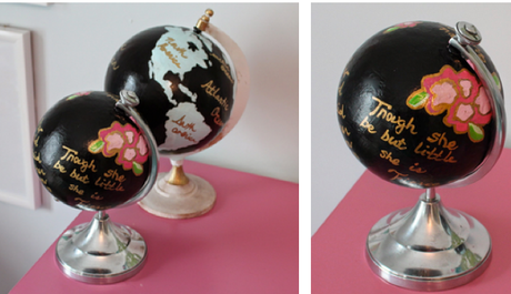 House Updates and Projects I Love (Colorful Painted Globes, Framed Fabric Art)