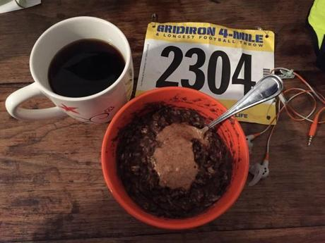 Protein Oats and Coffee via Fitful Focus #postracefuel #proteinoats #coffee