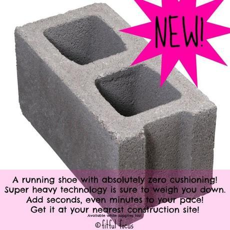 Cement Block Shoe via Fitful Focus #runningshoes #coldfeed
