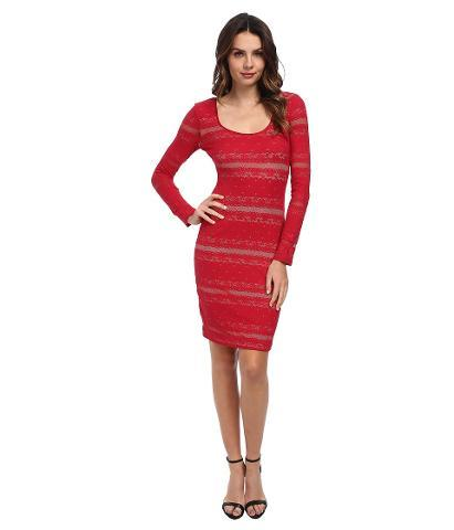 BCBG - Tanya Lace Cocktail Dress Women's Dress - Red
