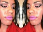 Makeup Look Purple Lips Smoky