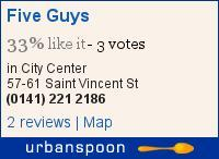 Food Review: Five Guys, 57- 61 St. Vincent Street, Glasgow