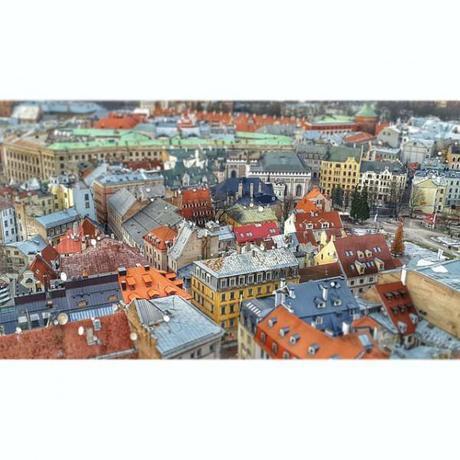 Riga as seen from St Peter's Church. BAM!