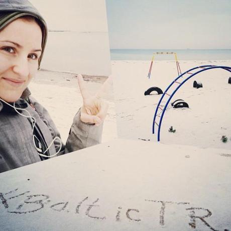 Me on the snowy beach of Pirita. Brrr! #BalticTR