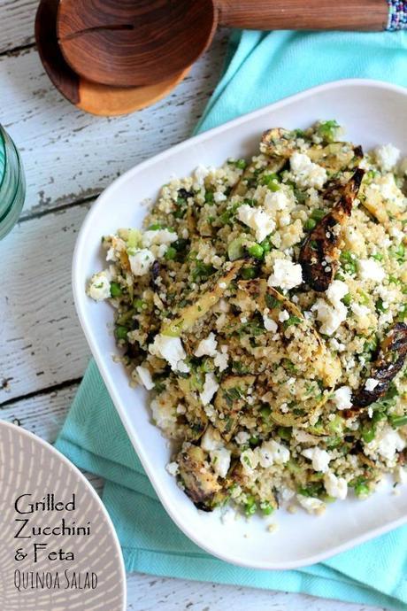 Grilled Zucchini and Feta Quinoa Salad - Paperblog