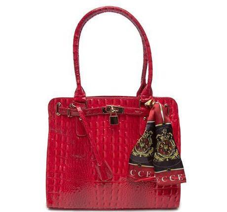 Vecceli Italy - Italy Alligator Embossed Red Handbag
