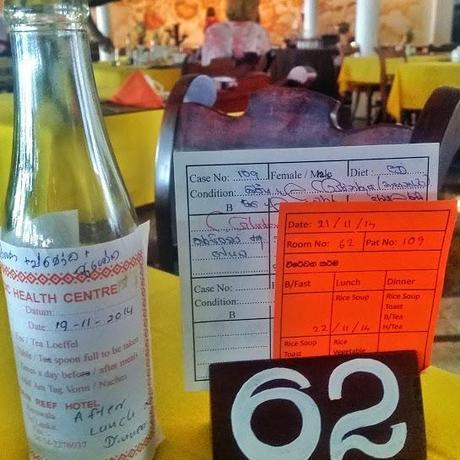 One of my potions and my diet plan at the Barberyn Ayurveda Retreat in Sri Lanka.