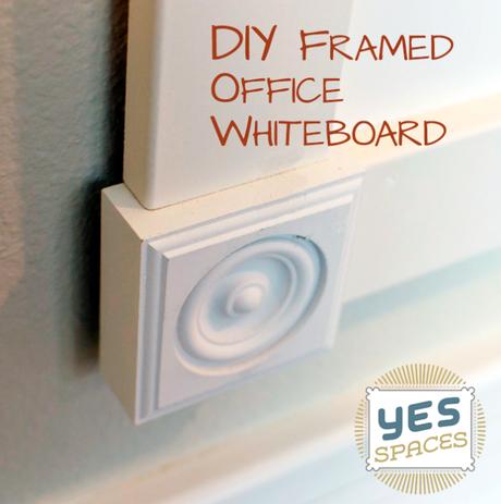 DIY Framed Office Whiteboard