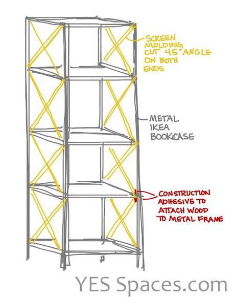 IKEA Hack: DIY a Stunning Gold Bookcase for Under $52