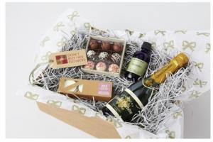 date night in box of goodies valentine