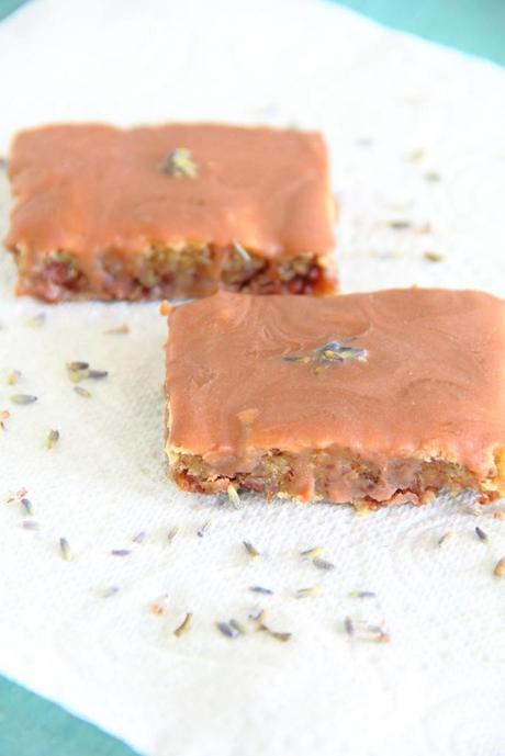 Milk Chocolate Lavender Chickpea Blondies