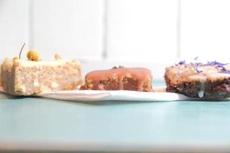 How to use edible flowers: Chickpea Blondies with Edible Flower Toppings