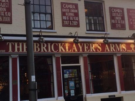Try some real ales at The Bricklayers Arms just near Putney Bridge