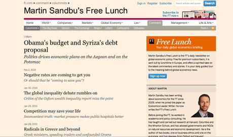 From the FT: Curated Lunchtime Fare