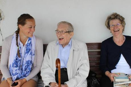 Southwold - Our eldest daughter Josie sharing a joke with my inlaws.