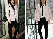 Black, White Pink Over