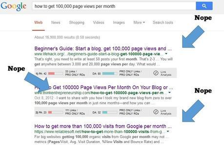 These Posts Won't Help You Get 100,000 Page Views Per Month