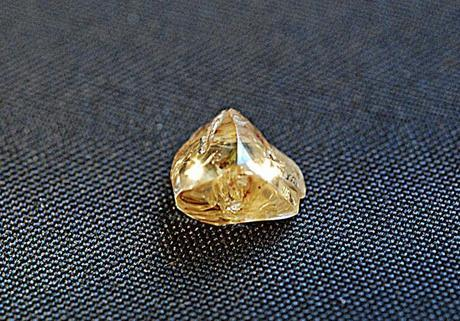 2.01-carat rough light yellow diamond found at the Crater of Diamonds State Park