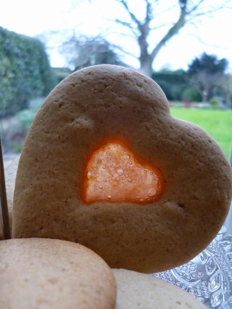 Heart shaped stained glass cookies recipe