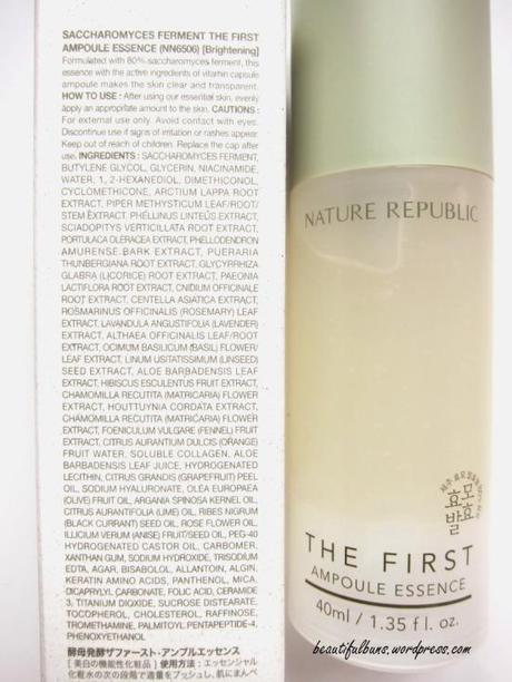 Nature Republic The First Ampoule Essence (2)