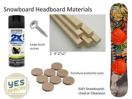 DIY a Snowboard Headboard