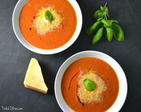 Creamy Tomato Basil Soup   Delish D'Lites