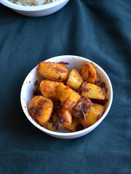 potato roast - south indian potato curry