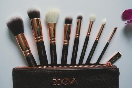 Hello Freckles Zoeva Rose Gold Make Up Brushes Review