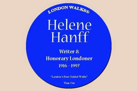 The Missing Plaques of Old #London Town (And, er, Surrounding Environs, By Which We Mean #NYC) No.5: Helene Hanff