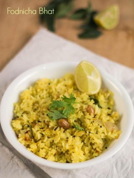 Fodnicha bhat | Spiced Leftover Rice
