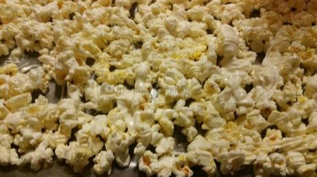 Popcorn Covered in White Chocolate