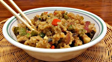 garlic veggie fried rice