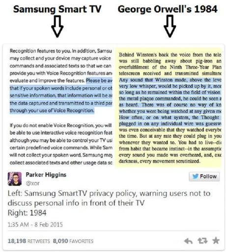 Samsung Smart TV & Orwell's 1984