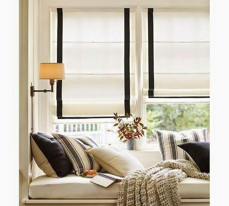 Roman blinds in the living room