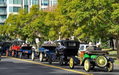The 100th anniversary of the San Diego Expo car race, there were even a couple cars that were able to repeat their participation from 1915