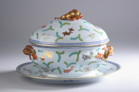 Herend Poissons Soup Tureen