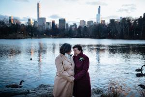 Elopement-NYC-Central Park-Lake Camilla Carol