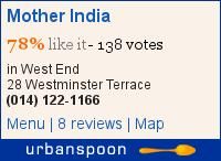 Food review: Mother India, 28 Westminster Terrace, Glasgow G3 7RU