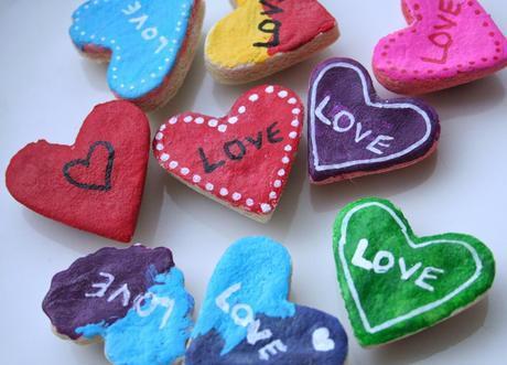 Salt Dough Valentine Magnets