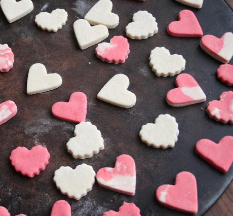 Salt Dough Valentine Magnets