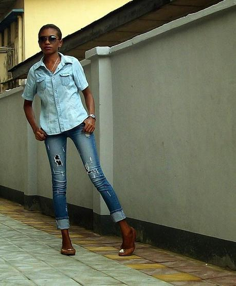 Tan and Double Denim