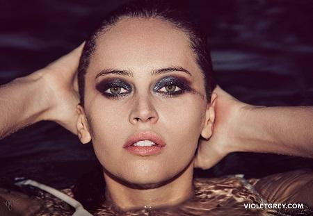 Felicity Jones takes the plunge for Violet Grey
