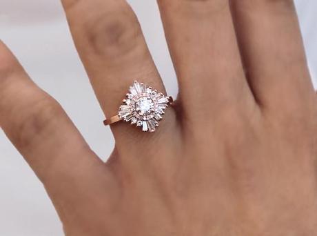 Gatsby Rose Gold Diamond Ring